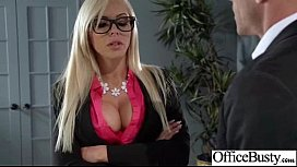 (nina elle) Sexy Busty Office Girl Bang Hardcore Style video-26